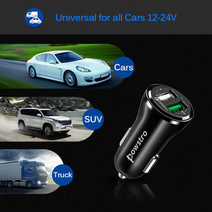 Fast Charge Dual USB Car Charger - Zone Adapter