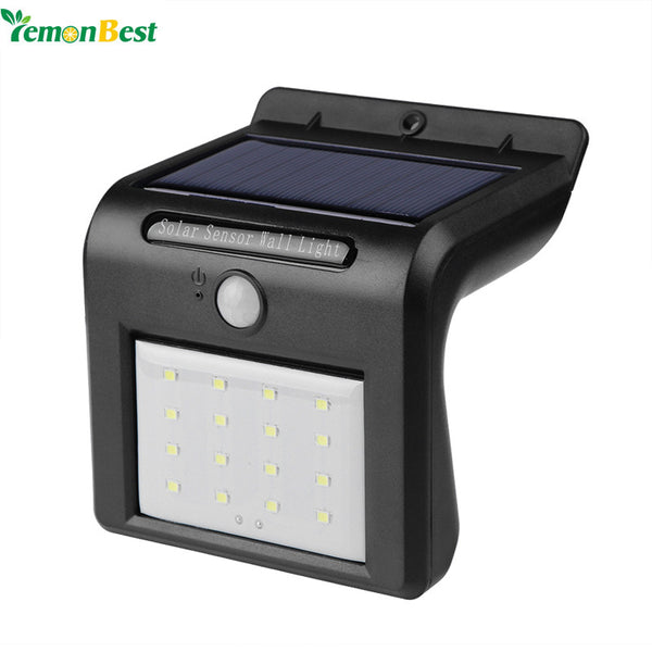 Modern 16-LED Solar Garden Lamp with Motion Sensor Bright Light - Zone Adapter