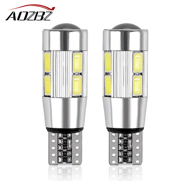 2Pcs Red Blue White T10 W5W 194 10 LED 5630 SMD Car Reading Lamps - Zone Adapter