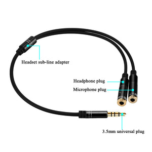 Micro 3.5mm Audio Splitter Cable and Earphone - Zone Adapter