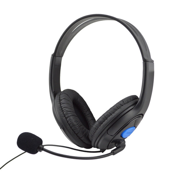 Wired Gaming Headset Headphones With Microphone For Sony PS4 Play - Zone Adapter