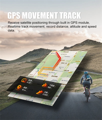 GPS Sport Smart Watch GPS Run/Cycle/Climb Sport Activity Fitness - Zone Adapter