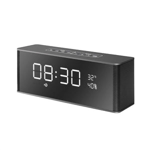 Multifunctional Digital Alarm Clock with Bluetooth Stereo Wireless Speakers - Zone Adapter