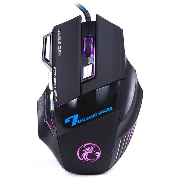 3200DPI LED Optical 7D USB Wired Gaming Game Mouse For PC Laptop Game - Zone Adapter