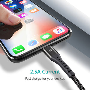 USB Charger Cable for iPhone X 8 8 Plus Cable Fast Charger Adapter 8 Pin For iPhone 6 6S 5 5S SE iPad Mobile Phone Cables - Zone Adapter