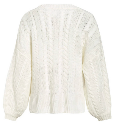 WHITE LOOSE PULLOVER