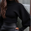 TURTLENECK SLEEVE SWEATER