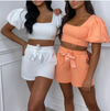 PUFF SLEEVE TWO PIECE SET