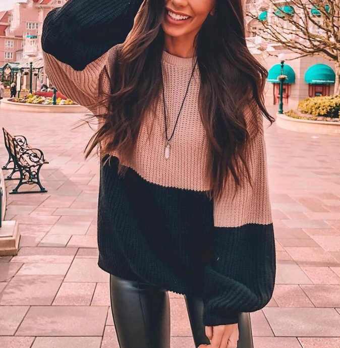 UNTAMED COLOR BLOCK SWEATER