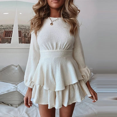 KNITTED  RUFFLE DRESS