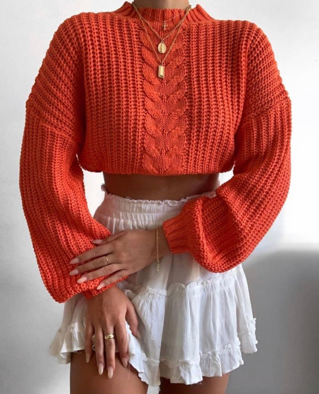 ORANGE KNITTED JUMPER