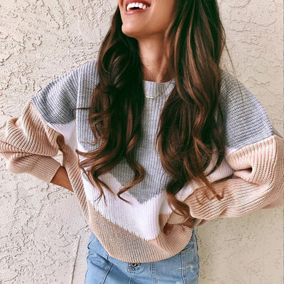 STRIPE CHUNKY KNIT JUMPER