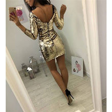 TALL GOLD SEQUIN LONG SLEEVE BODYCON DRES