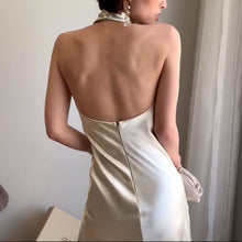 HALTER BACKLESS DRESS