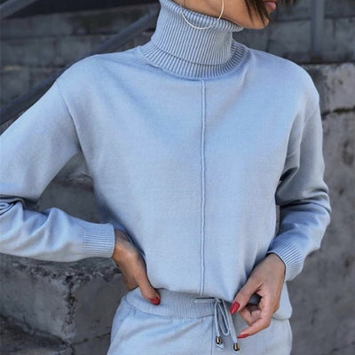 TURTLE NECK KNITTED LOUNGE SET