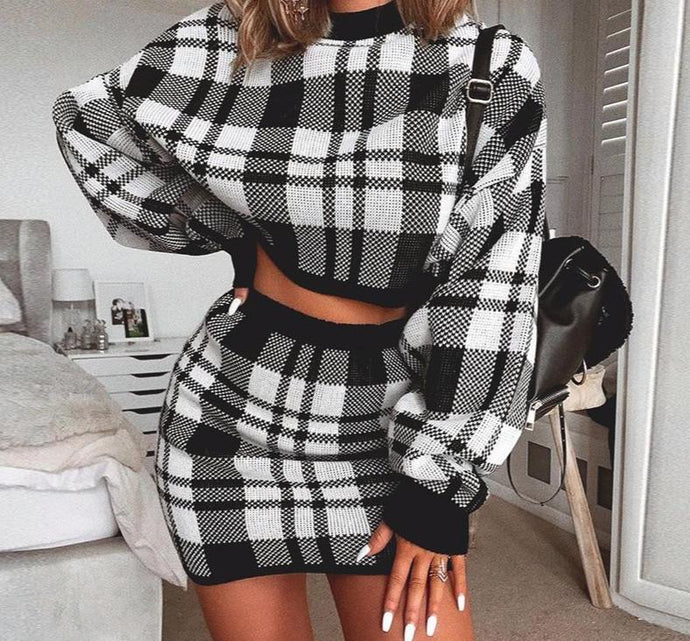 2 PIECE  MIDI SKIRT & SWEATER