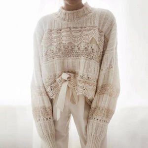 CREAM PEACHWORK JUMPER