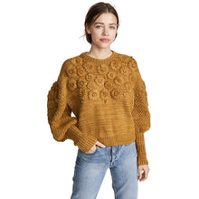 MUSTARD HAND EMBROIDERED  KNIT JUMPER