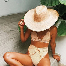 HIGH WAIST STRIPED BIKINI SET