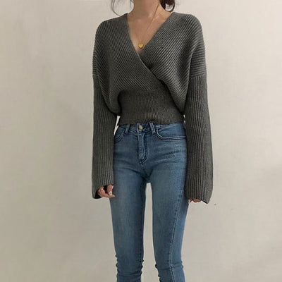 CROSS KNITTED PULLOVER