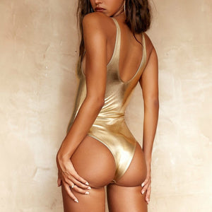 GOLDEN SWIMSUIT