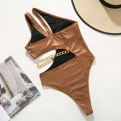 CHAIN DETAIL SWIMSUIT