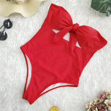 BANDEAU KNOTTED SWIMSUIT