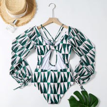TROPICAL LATERN SLEEVE SWIMSUIT