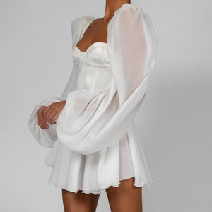 LATERN SLEEVE DRESS