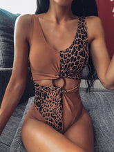 CHEETAH CUT OUT RING SWIMSUIT