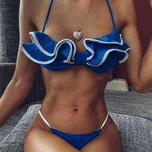 BLUE FRILL HIM BIKINI SET