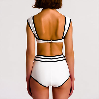 RETRO HIGH WAIST BIKINI SET
