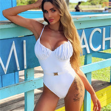 BELTED CUPPED SWIMSUIT