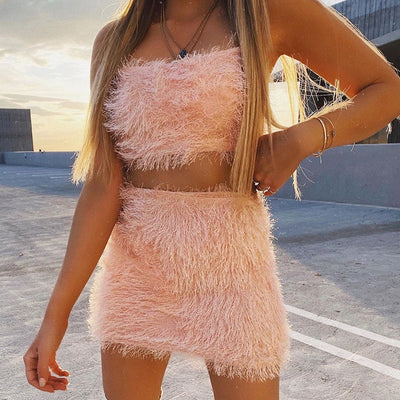 PINK TASSEL 2 PIECES SET