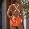 BACKLESS BELTED SWIMSUIT