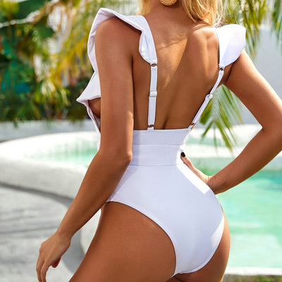 RUFFLE BUCKLE SWIMSUIT