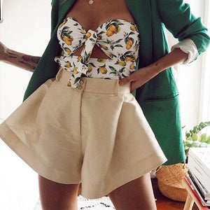 FLOATY HIGH WAISTED SHORTS