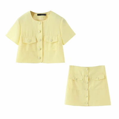 BUTTON CASUAL 2 PIECES SET