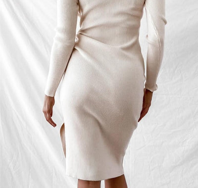 KNITTED SPLIT DRESS