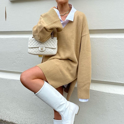 OVERSIZED KHAKI SWEATER