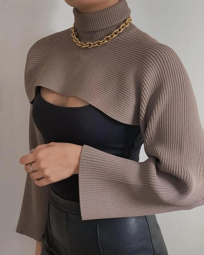 CROP KNITTED SWEATER