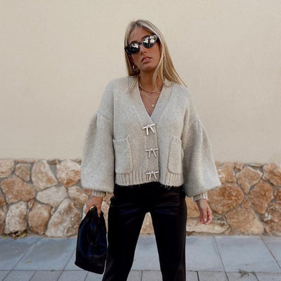 KNITTED LOOSE CARDIGAN