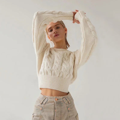 CHUNKY CROP SWEATER