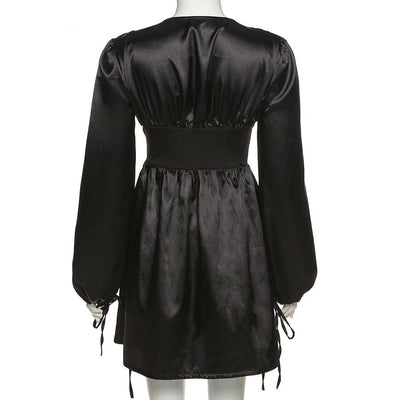 BALCK SATIN DRESS