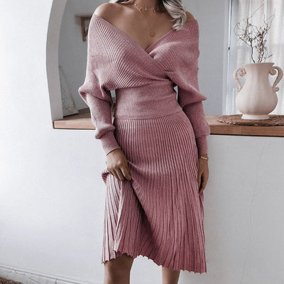 KNITTED TWO PIECE DRESS
