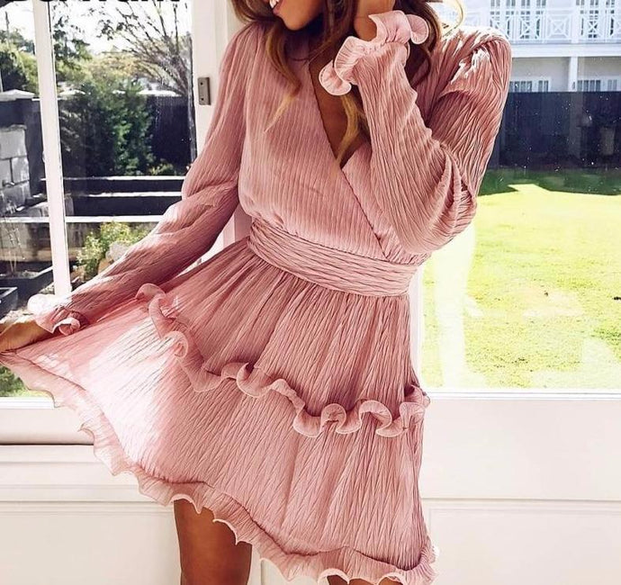 RUFFLE DETAIL DRESS
