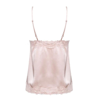 LACE TRIM SATIN CAMI TOP