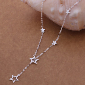 STERLING SILVER STAR NECKLACR