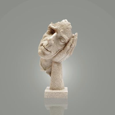 Thinking Face Sculpture