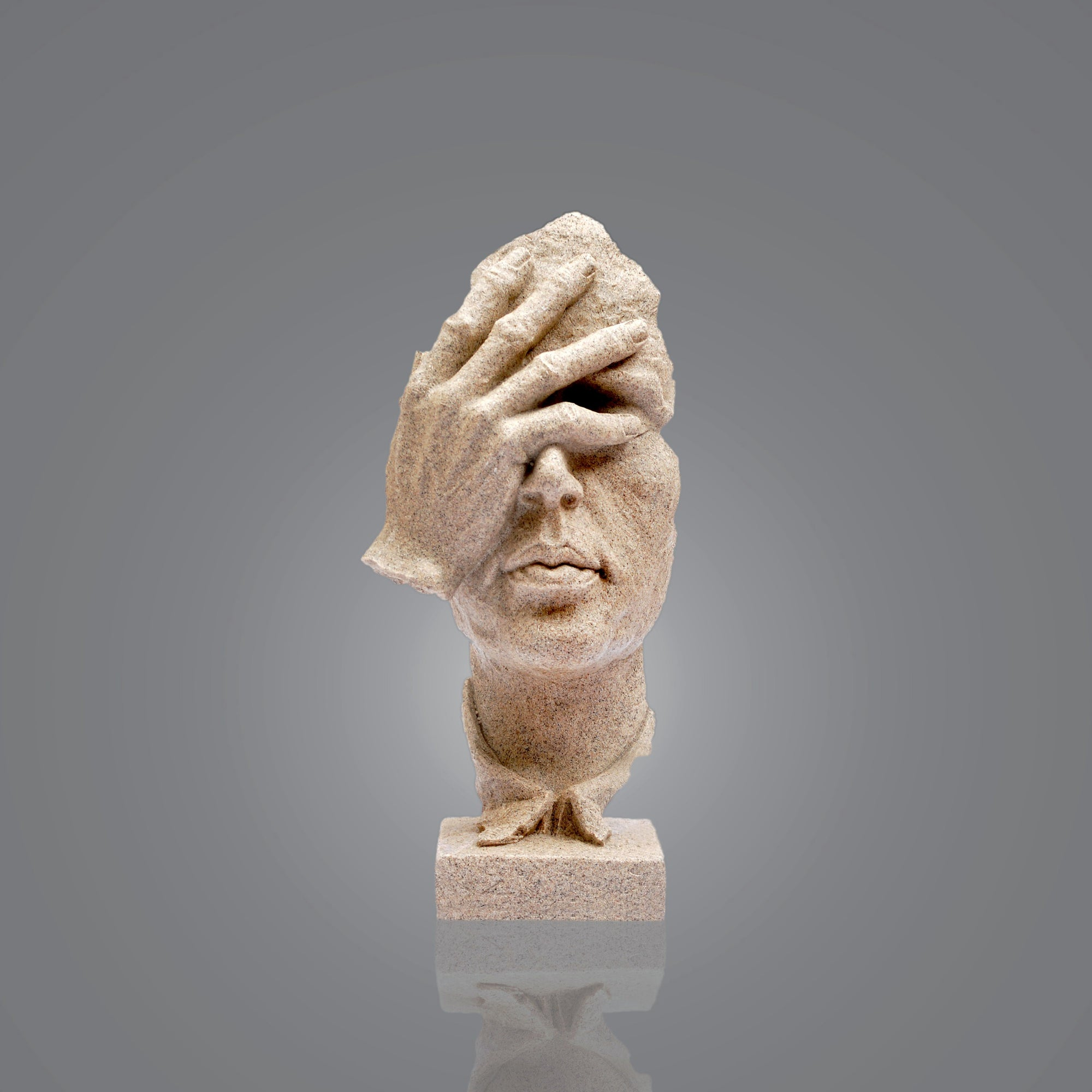 Let Down Face Sculpture
